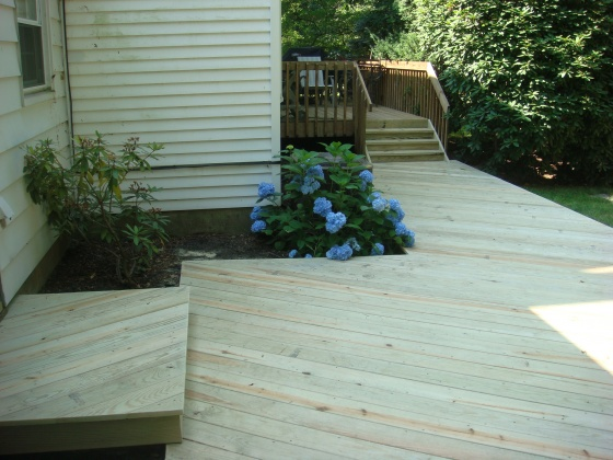 ideas for deck over concrete patio and beyond-pics- - general diy ... - Patio Step Ideas