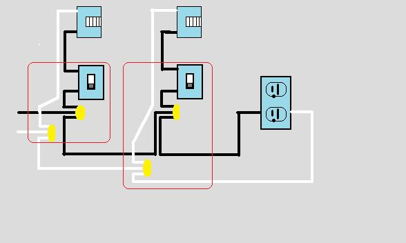 wiring two lights on separate switches then outlets electrical wiring two lights on separate switches then outlets 2lightsandoutlet jpg