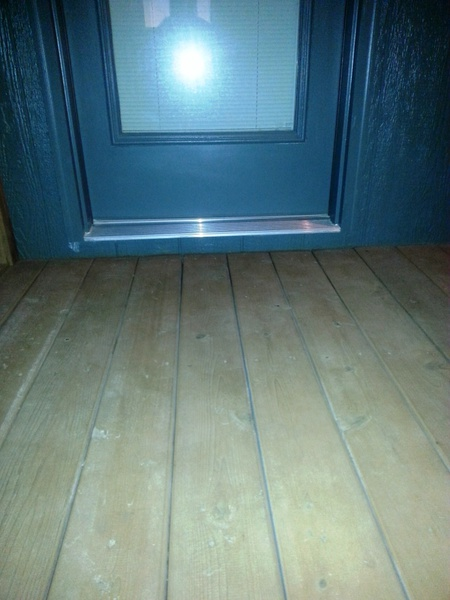 2 Water Coming In Under The Threshold?