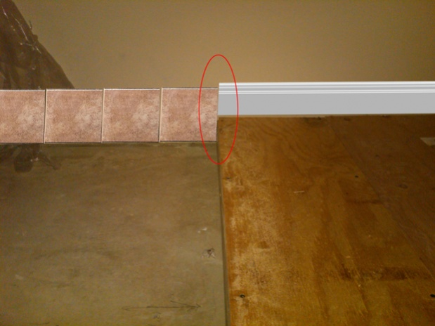 Tile To Molding Transition Flooring Diy Chatroom Home
