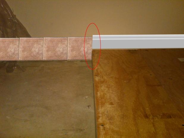 Floor tile molding