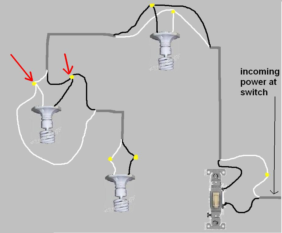 Help with wiring 1 switch controlling 2 lights electrical diy help with wiring 1 switch controlling 2 lights 3 lites daisy asfbconference2016 Image collections