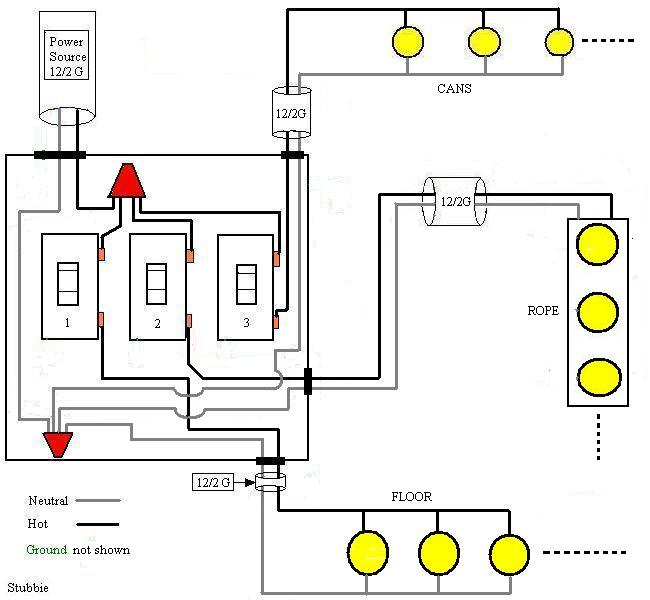 18923d1269452471 how wire three switches one circuit 3 sets lights how to wire three switches on one circuit electrical diy wiring multiple switches from one source diagram at fashall.co