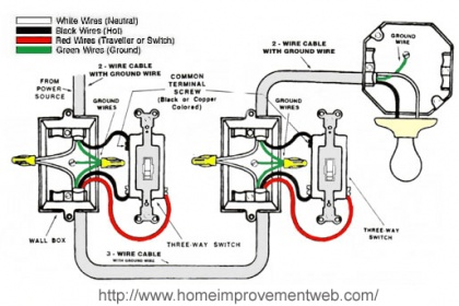 How do you wire a 3 way switch diagram