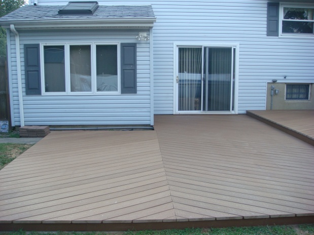 Gallery Of Ideas For Deck Over Concrete Patio And Beyondpics General Diy  With Concrete Patio Ideas.