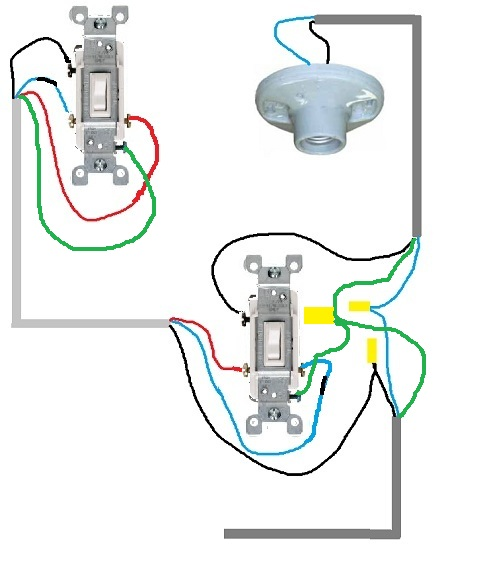 3 Way Light Switch Wired Wrong