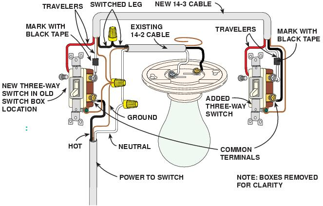 double three way switch wiring diagram    double    checking 3    way       wiring    electrical diy chatroom     double    checking 3    way       wiring    electrical diy chatroom