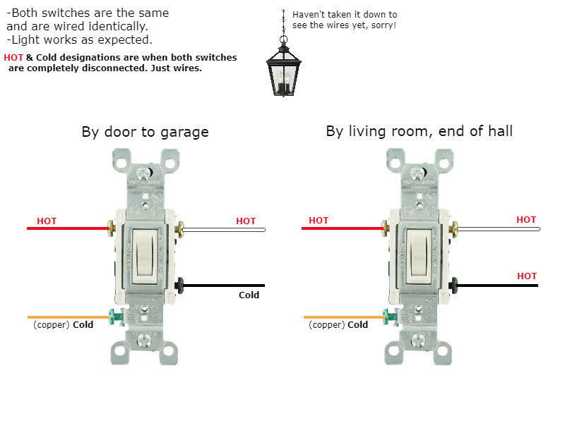 Weird 3-way Switch Wiring! - Electrical - DIY Chatroom Home ... on 3 wire switch diagram, 3-way switch diagram multiple lights, 3-way switch 2 lights, 3-way electrical wiring diagrams, 3-way dimmer switch wiring, two lights one switch diagram, 3-way switch circuit variations, easy 3 way switch diagram, easy 4-way switch diagram, three pole switch diagram, 3-way switch to single pole light, 3-way light circuit, 3-way switch common terminal, 3-way switch wiring examples, 2 switches 1 light diagram, 3-way switch wiring diagram variations, 3-way light switches for one, california three-way switch diagram,