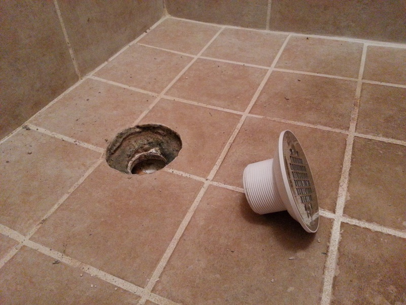 ... How To Repair Tiled Shower Drain Leak 4