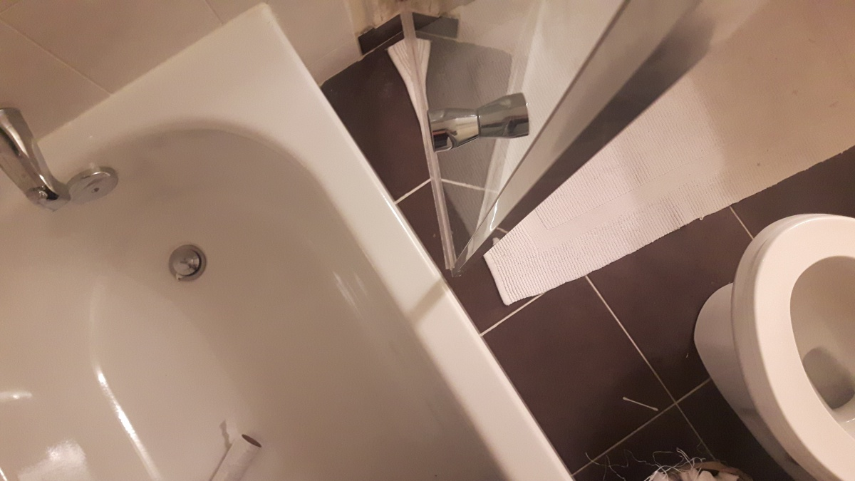 Shower Door Hits Toilet - What are the possible ways of repairing this problem?-4.jpg