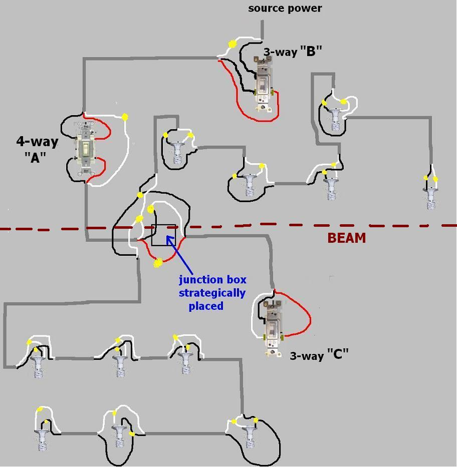 Diagram Wiring 4 Way Switches Diagram With 2 Lights Full Version Hd Quality 2 Lights Pvdiagramxhoyt Eventinotte It