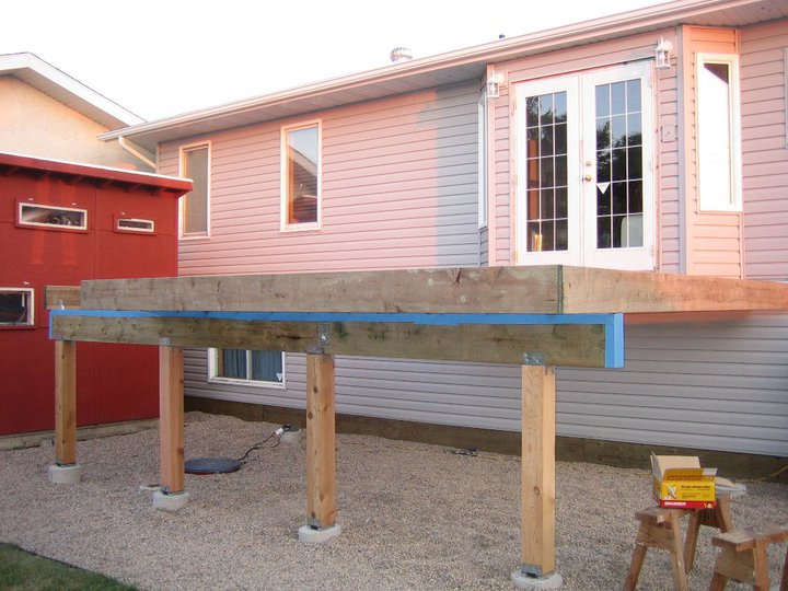 Deck Beam Flashing Building Amp Construction Diy