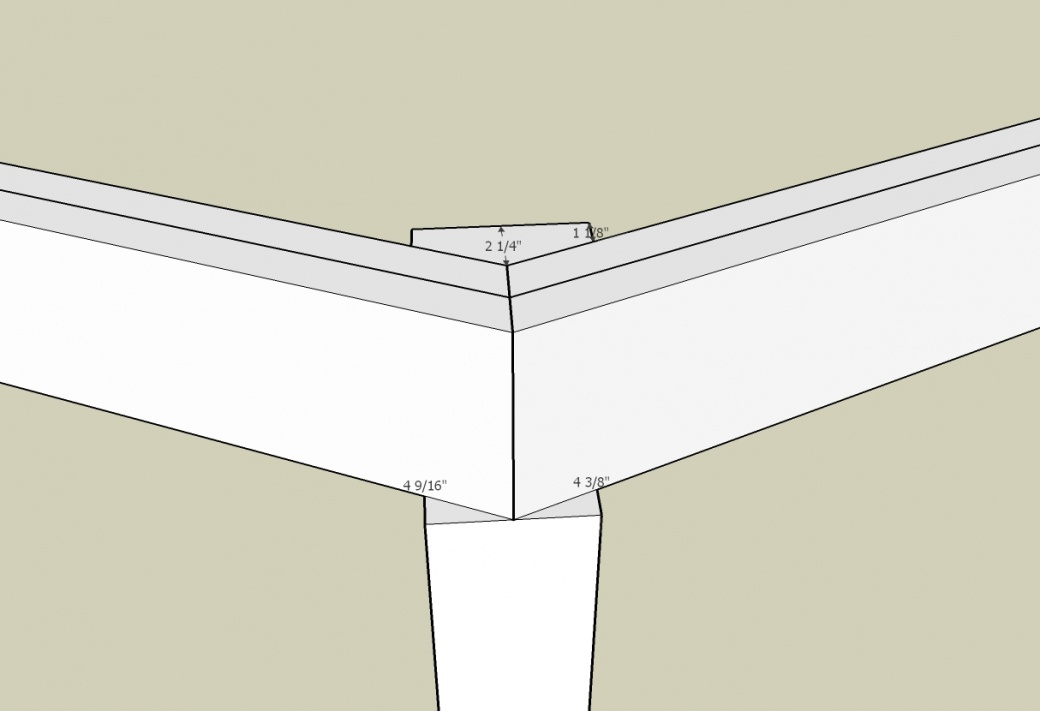 How to Attach Two Beams at 45 Degree Angle on top of 4x4 Post?-45-degree-intersection.jpg