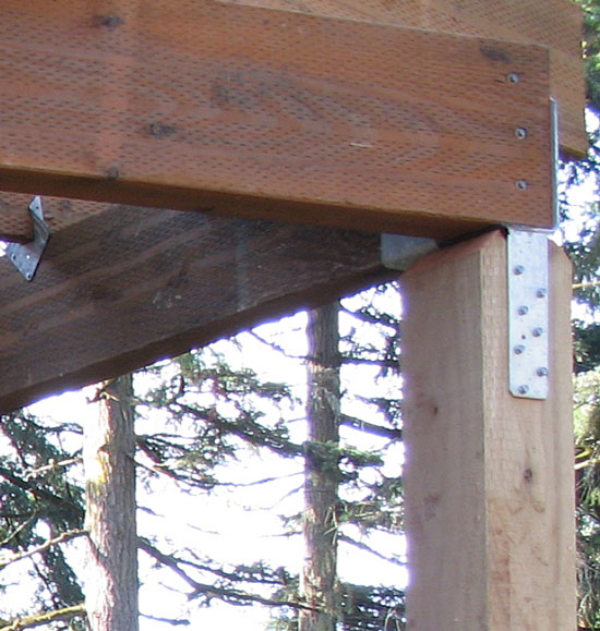 How to Attach Two Beams at 45 Degree Angle on top of 4x4 Post?-45beam.jpg