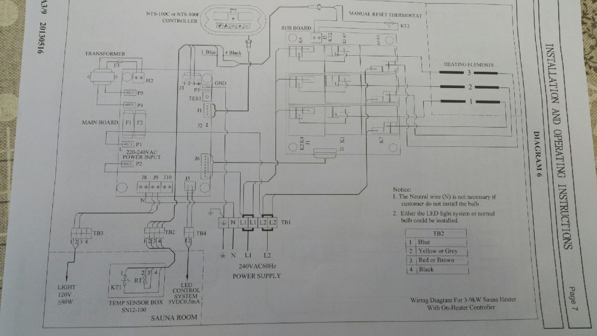 Help Wire Sauna Heater On 220v Stove Outlet