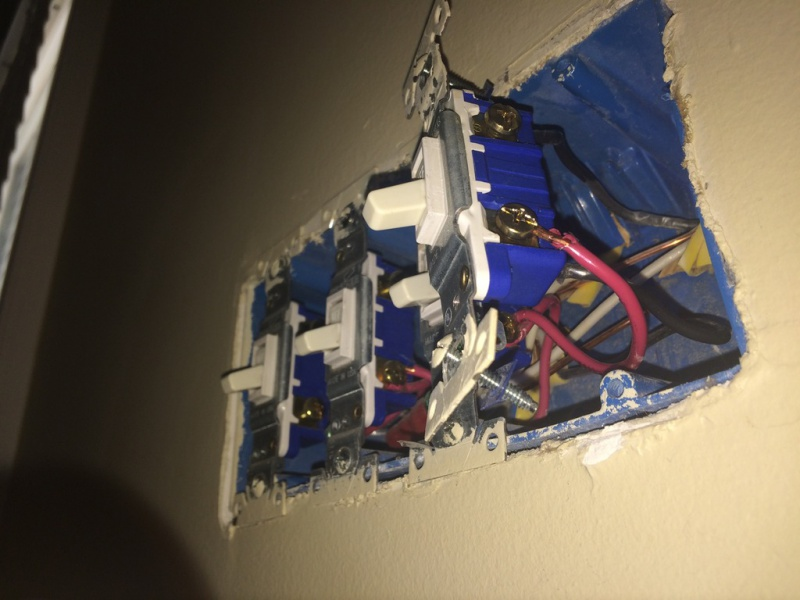 wiring a single pole dimmer switch in a multiple switch box rh diychatroom com install dimmer multiple switches