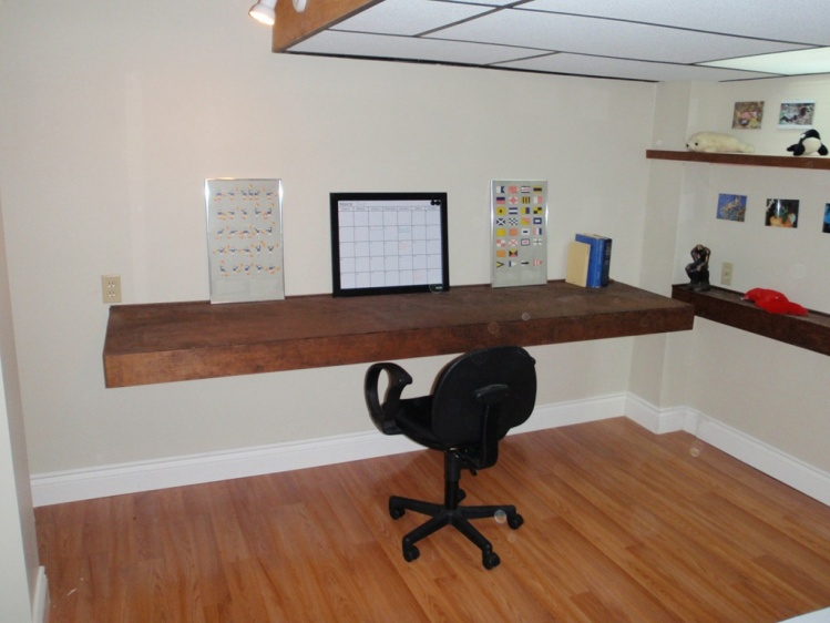 Floating Desk Best Anchor Method Carpentry Diy