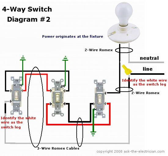 91721d1416183792 troubleshooting ceiling light fixture 4wayswitchdiagram2 troubleshooting ceiling light fixture electrical diy chatroom 4 wire light fixture wiring diagram at eliteediting.co