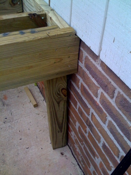 Contractor Nightmare - Front Porch Addition-4x4on_sidewalk.jpg