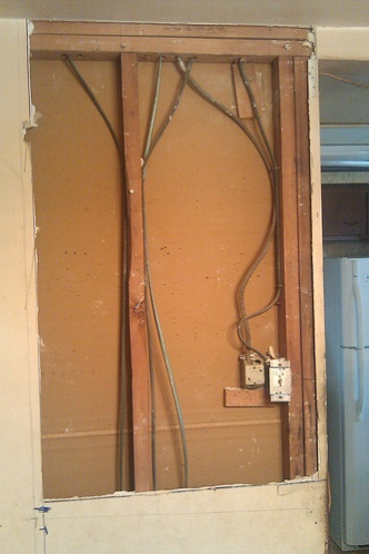 extending wiring for a wall move junction box. Black Bedroom Furniture Sets. Home Design Ideas