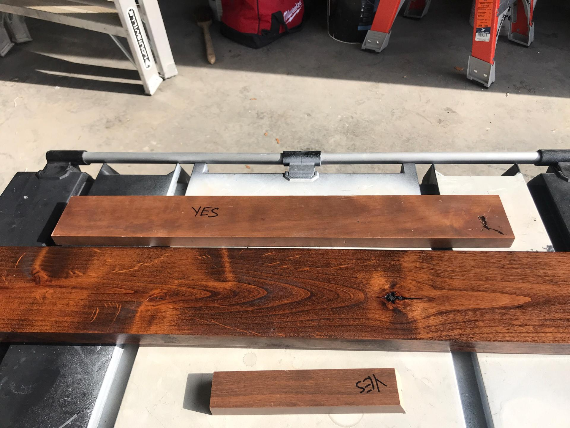 Why is the wood staining differently on a couple of boards-571865077_01.jpg