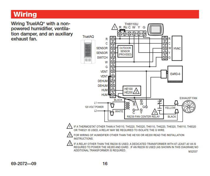 help replacing line voltage dehumidistat with honeywell ... hvac fan relay diagram line aftermarket electric fan relay diagram