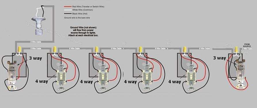 how to add another 4 way switch to an existing 3 way 4 way 3 way 4-way switch diagram light how to add another 4 way switch to an existing 3 way 4