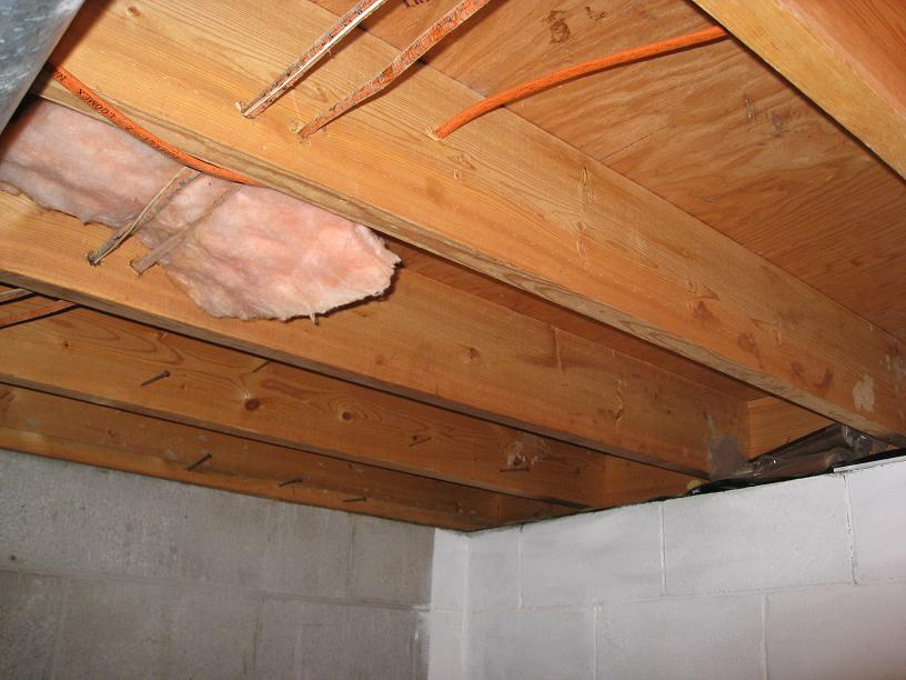 Insulating Floor Joists Building