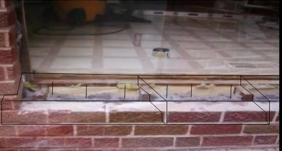 Patio Door Bottom Sill Over Brick/concrete Block 8 ...