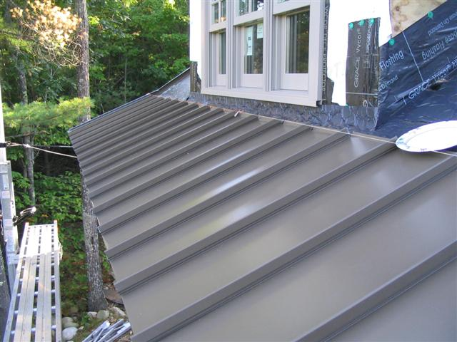 Flashing On Standing Seam Roof Roofing Siding Diy Home