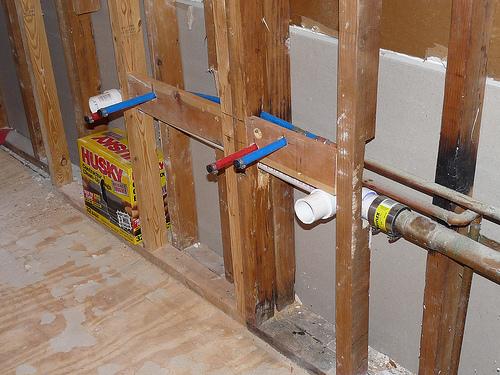 Rough Plumbing Bathroom Double Sink Artcomcrea