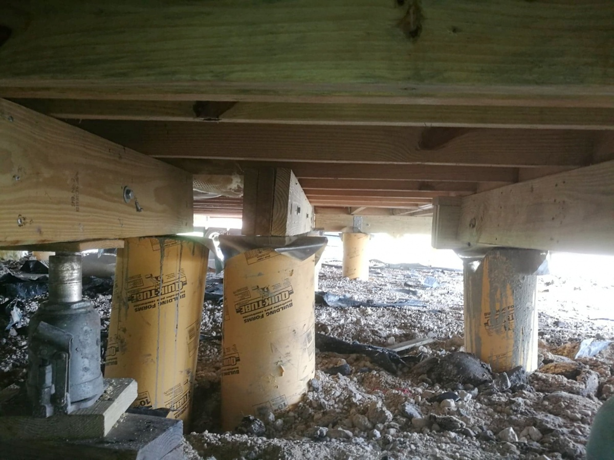 Proving Incorrect Pier Beam Installation The Building Code Forum