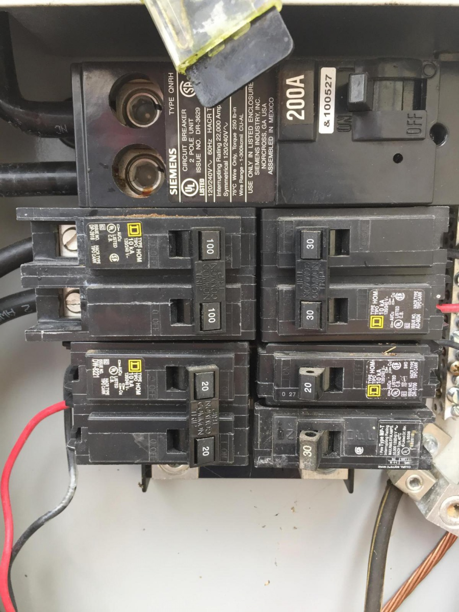 Wire Size Sub Panel - Electrical