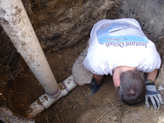 Sewer gas smell in basement from sump pump-finished-digging.jpg
