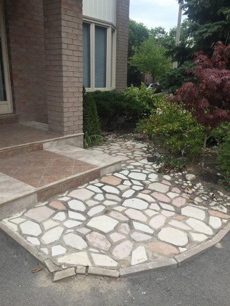 Repairing Loosen Patio Flagstone Joint   Polymeric Sand VS Mortar VS  Envirobond? A1.