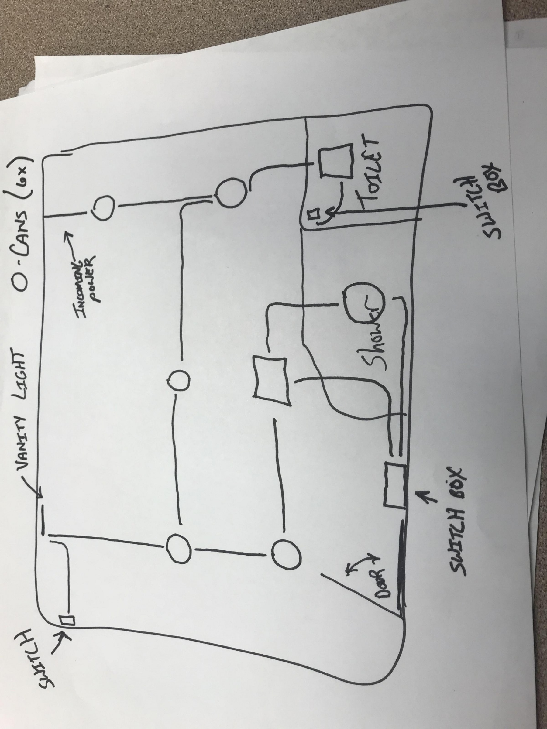 Need Circuit Diagram For A Large Bathroom