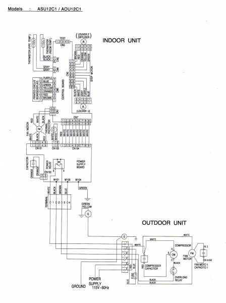 ac mini split system wiring diagram