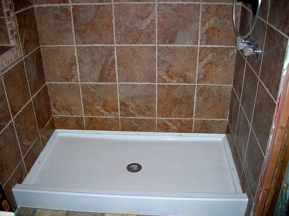 ... Large Porcelain Tiles For Shower Walls After Grout 006 ...