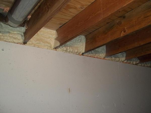 Insulating Rim Joist - Caulk Or Spray Foam Around Edges