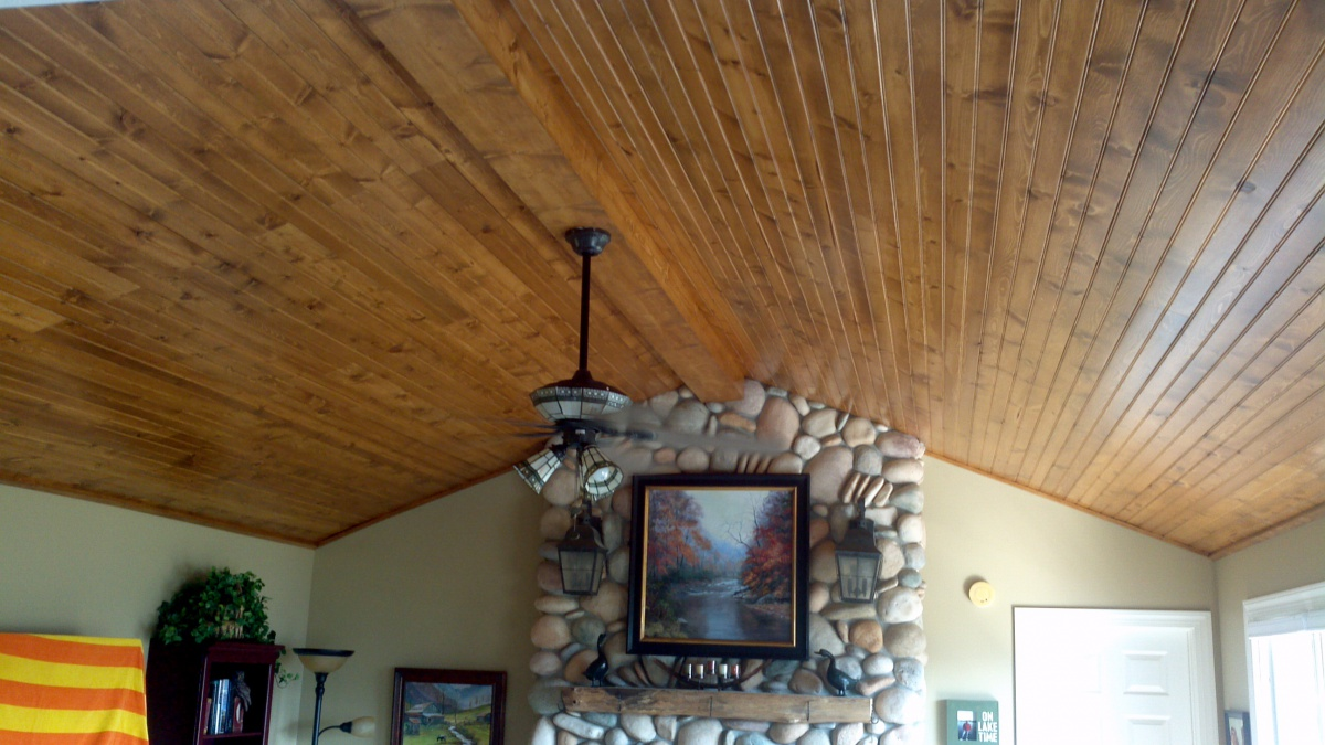 Tongue Amp Groove Cathedral Ceiling Carpentry Diy