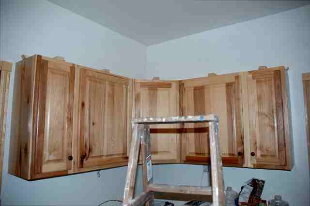 Now the fun part! Crown molding on cabinets round II-anglerun111.jpg