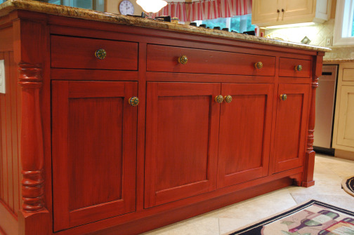 ... Tips On Glazing Kitchen Cabinets Antiqued Distressed Paint Glaze  Cabinets  ...