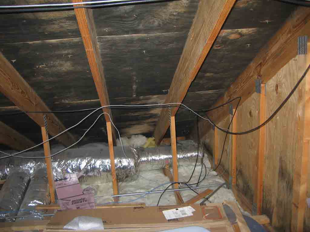 Bad Attic Mold Roofing Siding Diy Home Improvement