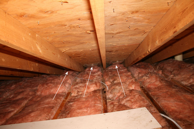 Attic Insulation Covered By Plastic Insulation Diy