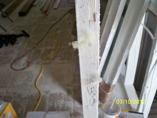 Smoke remediation water based primer how do I know?-babbitt-kilz-photo-stud-insulation-fuzz-stuck-paint.jpg