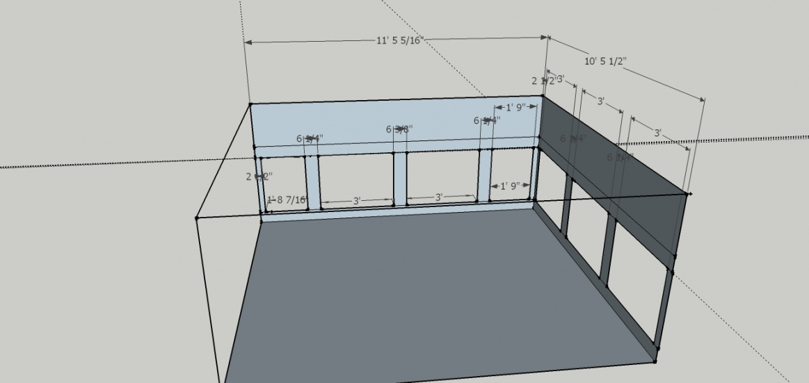 picture frame wainscoting layout help babyroomjpg