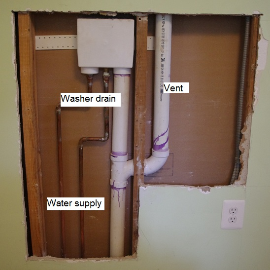 2nd Floor Washing Machine With No Trap Plumbing Diy