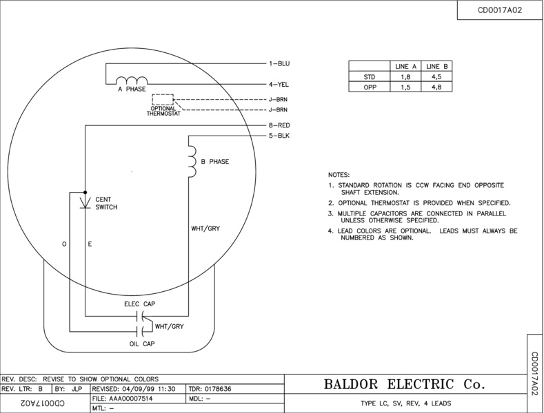 Electric Motor Wiring Question Diy, Baldor Motor Wiring Diagrams Single Phase