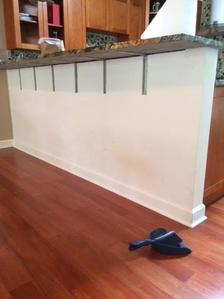 Granite Supports On Breakfast Bar Drywall Repair Bar2 Jpg
