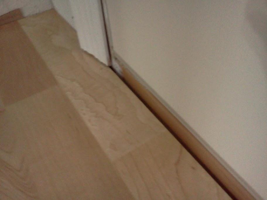 Quarter Round For Transition To Exterior Door Flooring
